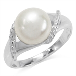 9MM Cultured White Pearl 925 Sterl...