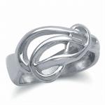 925 Sterling Silver Wavy Ribbon Ri...