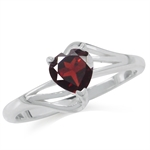 Natural Heart Shape Garnet 925 Ste...