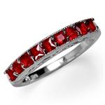 Garnet Red CZ 925 Sterling Silver ...