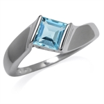 1.44ct. Genuine Blue Topaz 925 Ste...