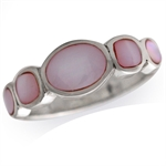 5-Stone Pink Mother of Pearl Inlay...