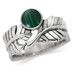 Created Malachite 925 Sterling Sil...