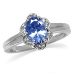 1.3ct. Genuine Tanzanite White Gol...