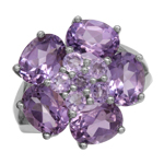 6.46ct. Natural Amethyst White Gol...