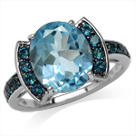 5.44ct. Genuine Blue Topaz & Londo...