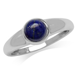 Genuine Lapis White Gold Plated 92...