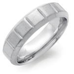 6MM Men&#39s Stainless Steel Pattern Wide Band Ring
