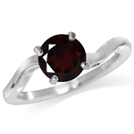 1.39ct. Natural Garnet 925 Sterling Silver Solitaire Ring