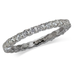 CZ White Gold Plated 925 Sterling Silver Eternity Band Stack/Stackable Ring
