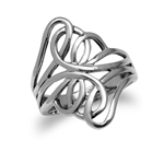 23MM 925 Sterling Silver Contemporary Celtic Weave Ring
