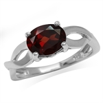 2.05ct. Natural Garnet White Gold ...