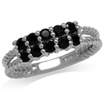 Natural Black Spinel White Gold Pl...