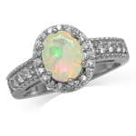 Genuine Opal White Gold Plated 925...
