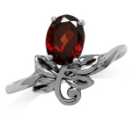1.55ct. Natural Oval Shape Garnet ...