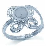 Ball Spiral Sterling Silver Adjustable Toe Ring
