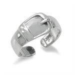 925 Sterling Silver BELT BUCKLE Adjustable Toe Ring